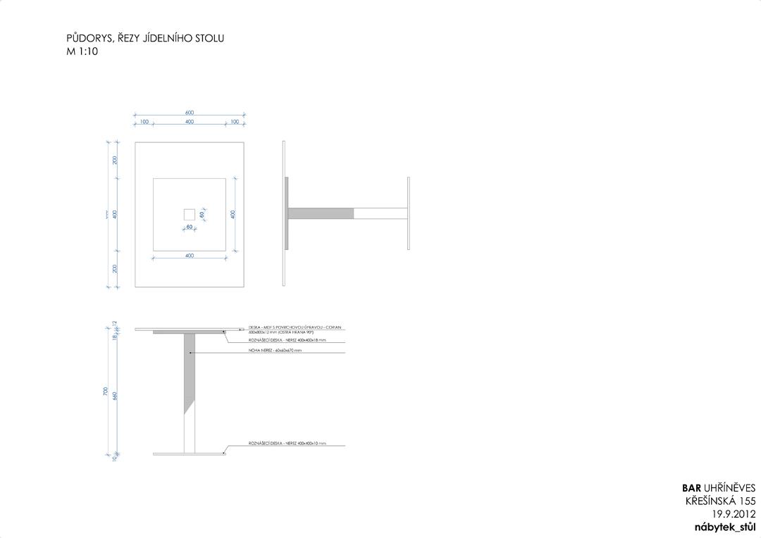 05 nábytek_stůl _ Výkres