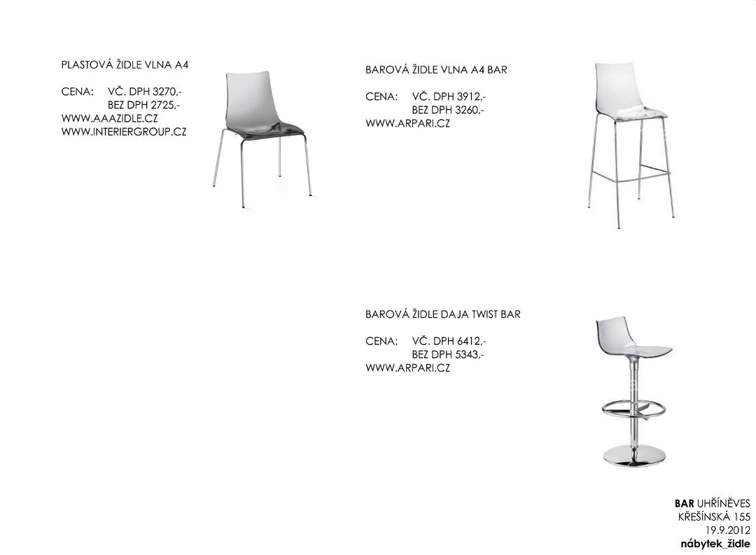 06 nábytek_židle _ Výkres